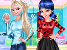Elsa And Ladybug In College