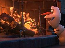 Frozen Olaf and Fire Puzzle
