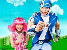 Lazy Town Sportacus and Stephanie