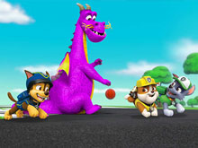 Paw Patrol and Dragon