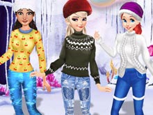Princesses Cute Winter Sweater