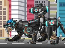Smilodon Black - Transform! Dino Robot