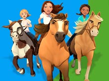 Spirit Riding Free Animated Coloring Book