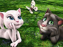 Talking Tom and Angela Butterfly