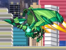 Transform! Dino Robot Ptera Green
